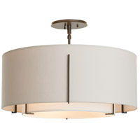 Hubbardton Forge 126503-2088 Exos 3 Light 23 inch Mahogany Semi-Flush Mount Ceiling Light 126503-SKT-07-SF1590-SE2290_3.jpg thumb