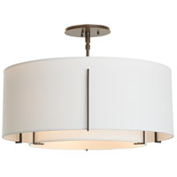 Hubbardton Forge 126503-2088 Exos 3 Light 23 inch Mahogany Semi-Flush Mount Ceiling Light 126503-SKT-07-SF1590-SF2290_4.jpg thumb