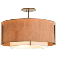 Hubbardton Forge 126503-2088 Exos 3 Light 23 inch Mahogany Semi-Flush Mount Ceiling Light 126503-SKT-07-SF1590-SG2290_5.jpg thumb