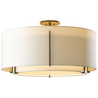 Hubbardton Forge 126505-1177 Exos 3 Light 29 inch Burnished Steel Semi-Flushmount Ceiling Light, Large thumb