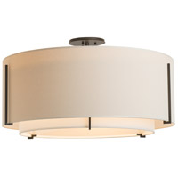 Hubbardton Forge 126505-1542 Exos 3 Light 29 inch Vintage Platinum Semi-Flush Mount Ceiling Light, Large thumb