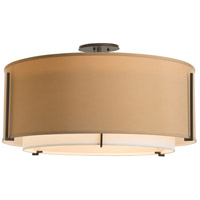 Hubbardton Forge 126505-1618 Exos 3 Light 29 inch Gold Semi-Flush Mount Ceiling Light, Large 126505-SKT-07-SF2290-SB2899_2.jpg thumb