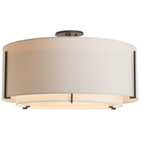 Hubbardton Forge 126505-1542 Exos 3 Light 29 inch Vintage Platinum Semi-Flush Mount Ceiling Light, Large 126505-SKT-07-SF2290-SE2899_3.jpg thumb