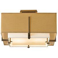 Hubbardton Forge 126507-1097 Exos 2 Light 17 inch Dark Smoke Semi-Flushmount Ceiling Light Square Small