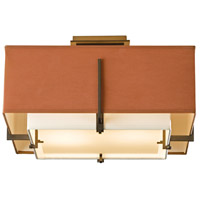 Hubbardton Forge 126507-1327 Exos 2 Light 17 inch Soft Gold Semi-Flush Mount Ceiling Light, Square Small 126507-SKT-07-SF1205-SC1605_3.jpg thumb