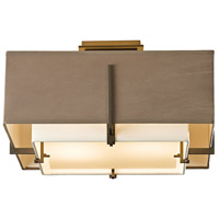 Hubbardton Forge 126507-1313 Exos 2 Light 17 inch Bronze Semi-Flush Mount Ceiling Light, Square Small 126507-SKT-07-SF1205-SD1605_4.jpg thumb