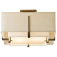 Hubbardton Forge 126507-1101 Exos 2 Light 17 inch Dark Smoke Semi-Flushmount Ceiling Light Square Small