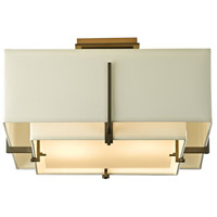 Hubbardton Forge 126507-1100 Exos 2 Light 17 inch Dark Smoke Semi-Flushmount Ceiling Light Square Small