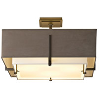 Hubbardton Forge 126510-1200 Exos 4 Light 21 inch Natural Iron Semi-Flushmount Ceiling Light, Square thumb