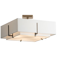 Hubbardton Forge 126510-1417 Exos 4 Light 3 inch Bronze Semi-Flush Mount Ceiling Light, Square thumb