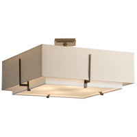 Hubbardton Forge 126513-1110 Exos 4 Light 25 inch Burnished Steel Semi-Flushmount Ceiling Light, Square Large thumb