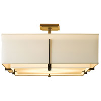Hubbardton Forge 126513-1466 Exos 4 Light 25 inch Gold Semi-Flush Mount Ceiling Light, Square Large thumb