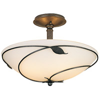 Hubbardton Forge 126732-1010 Forged Leaves 3 Light 16 inch Natural Iron Semi-Flushmount Ceiling Light Large