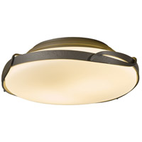 Flora 2 Light 14 inch Mahogany Flush Mount Ceiling Light