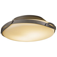 Flora 2 Light 14 inch Burnished Steel Flush Mount Ceiling Light