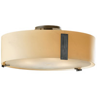Hubbardton Forge Burnished Steel Semi-Flush Mounts