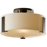 Hubbardton Forge 126753-1009 Impressions 1 Light 12 inch Burnished Steel Semi-Flushmount Ceiling Light