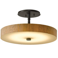 Hubbardton Forge 126803-1006 Disq LED 15 inch Dark Smoke Semi-Flushmount Ceiling Light