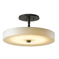 Hubbardton Forge 126803-1007 Disq LED 15 inch Dark Smoke Semi-Flushmount Ceiling Light