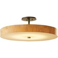 Hubbardton Forge 126805-1006 Disq LED 23 inch Dark Smoke Semi-Flushmount Ceiling Light Large