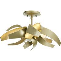 Hubbardton Forge 128712-1008 Corona 4 Light 20 inch Soft Gold Semi-Flushmount Ceiling Light