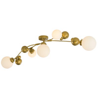 Sprig 5 Light 21 inch Mahogany Semi-Flush Ceiling Light