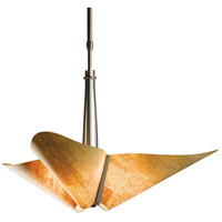 Hubbardton Forge 133303-1020 Kirigami 3 Light 29 inch Dark Smoke Pendant Ceiling Light