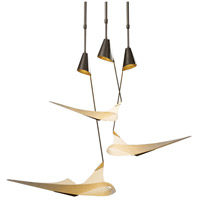 Hubbardton Forge 133360-1007 Icarus 3 Light 46 inch Burnished Steel Pendant Ceiling Light