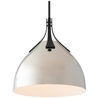 Hubbardton Forge 134502-1150 Summit 1 Light 13 inch Black/Polished Nickel Pendant Ceiling Light