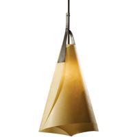 Hubbardton Forge 134505-1019 Mobius 1 Light 14 inch Dark Smoke Pendant Ceiling Light Tall