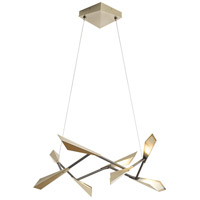 Hubbardton Forge 135003-1002 Quill LED 34 inch Soft Gold Pendant Ceiling Light
