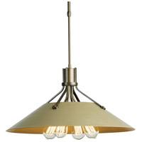 Hubbardton Forge 136340-1148 Henry 4 Light 23 inch Bronze with Soft Gold Accent Pendant Ceiling Light