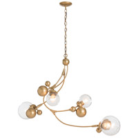 Hubbardton Forge 136420-1026 Sprig 4 Light 21 inch Gold Pendant Ceiling Light