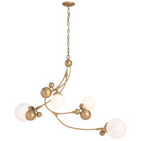 Hubbardton Forge 136420-1017 Sprig 4 Light 21 inch Gold Pendant Ceiling Light