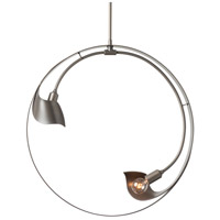 Hubbardton Forge 136430-1010 Orion 2 Light 5 inch Burnished Steel Pendant Ceiling Light