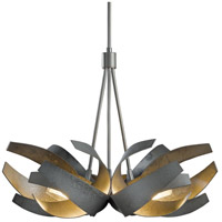 Hubbardton Forge 136501-1021 Corona 6 Light 27 inch Dark Smoke Pendant Ceiling Light