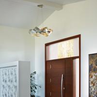 Hubbardton Forge 136525-1001 Flux LED 39 inch Vintage Platinum Pendant Ceiling Light Large