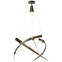 Hubbardton Forge 136630-1148 Crescent 1 Light 40 inch Bronze with Soft Gold Accent Pendant Ceiling Light