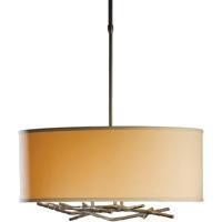 Hubbardton Forge 137665-1030 Brindille 3 Light 22 inch Dark Smoke Pendant Ceiling Light