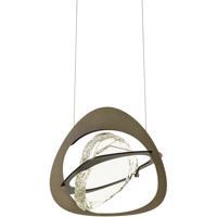 Hubbardton Forge 137730-1002 Venn LED 13 inch Dark Smoke Pendant Ceiling Light