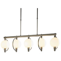 Hubbardton Forge 137805-1018 Pluto 5 Light 9 inch Burnished Steel Pendant Ceiling Light photo thumbnail