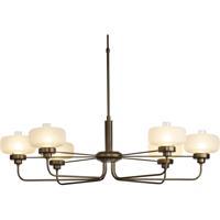Hubbardton Forge 137840-1017 Nola 6 Light 25 inch Bronze Pendant Ceiling Light