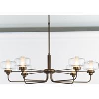 Hubbardton Forge 137840-1025 Nola 6 Light 25 inch Bronze Pendant Ceiling Light