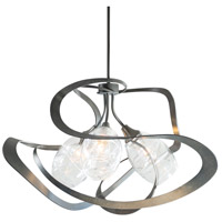 Hubbardton Forge 137855-1002 Nest 3 Light 31 inch Dark Smoke Pendant Ceiling Light photo thumbnail