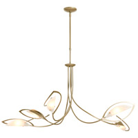 Hubbardton Forge 137865-1007 Aerial 5 Light 48 inch Soft Gold Pendant Ceiling Light