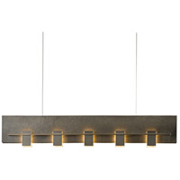 Hubbardton Forge 137901-1002 Aperture 5 Light 3 inch Dark Smoke Pendant Ceiling Light