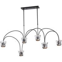 Hubbardton Forge 138915-1013 Splash LED 26 inch Black/Vintage Platinum Pendant Ceiling Light