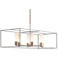 Hubbardton Forge 138940-1123 Portico 6 Light 19 inch Soft Gold with Dark Smoke Accent Pendant Ceiling Light