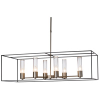 Hubbardton Forge 138940-1316 Portico 6 Light 19 inch Soft Gold with Dark Smoke Accent Pendant Ceiling Light
