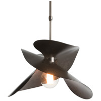 Hubbardton Forge 139450-1007 Hibiscus 1 Light 14 inch Dark Smoke Pendant Ceiling Light